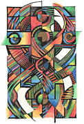 Celtic Cross Drawings - Cruciform IX by Andy  Mercer