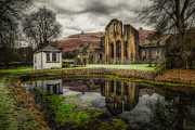 Pond Digital Art Posters - Crucis Abbey Poster by Adrian Evans