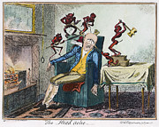 Cruikshank Art - Cruikshank: Headache by Granger
