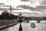 Boat Cruise Prints - Cruise on the Seine Print by Olivier Le Queinec