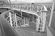 Step Prints - Cruise Ship Print by Betsy A Cutler East Coast Barrier Islands