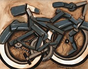 Cruiser Painting Metal Prints - Cruiser Bicycle Metal Print by Tommervik