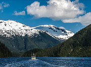 Snow Cap Photos - Cruising Alaska by Robert Bales