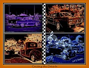 Burger Digital Art Prints - Cruising Collage Print by Bobbee Rickard