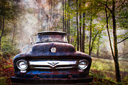 Old Fords Prints - Cruising The Back Roads Print by Debra and Dave Vanderlaan
