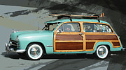 Classic Art Mixed Media - Cruising Woody by Uli Gonzalez