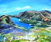 Robina Osbourne - Crummock Water from Red...