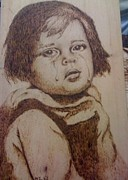 Christian Art Pyrography Originals - Cry by Latif Arifi