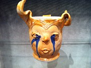 Featured Ceramics - Crying Face Mug by Thomas Bumblauskas