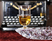 Cristal Framed Prints - Crystal Ashtray With A glass of Whisky Framed Print by Sinners Andsaintsstudio
