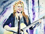 Rock And Roll Painting Originals - Crystal Bowersox by Brian Degnon