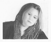 Crystal Drawings Prints - Crystal Bowersox Print by Liz Bourque