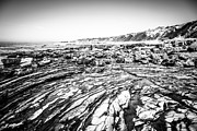 Tide Pools Framed Prints - Crystal Cove Tide Pools in Black and White Framed Print by Paul Velgos