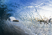 Perfect Wave Framed Prints - Crystal Curl Framed Print by Sean Davey