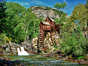 Old Mills Posters - Crystal Mill Crystal Colorado Poster by Ken Smith