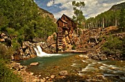 Mill On A Cliff Framed Prints - Crystal Mill Landscape Framed Print by Adam Jewell