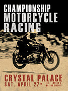 Crystal Palace Motorcycle Racing Print by Mark Rogan