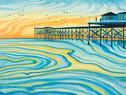 Hope Paintings - Crystal Pier San Diego by Emily Brantley