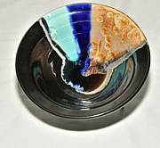 Japanese Ceramics - Crystalline Glaze Bowl by Neeltje Vos
