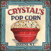Sign Painting Prints - Crystals Popcorn Print by Debbie DeWitt