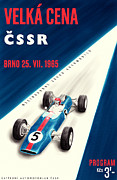 Czechoslovakia Prints - CSSR Grand Prix 1965 Print by Nomad Art And  Design