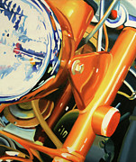 Motorcycle Paintings - Ct70 by Guenevere Schwien