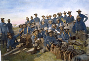 Colored Troops Prints - Cuba - Tenth Cavalry 1898 Print by Granger