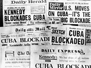 Greater Antilles Photos - Cuba Blockade Headines by Underwood Archives