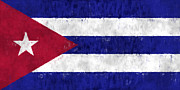 Havana Framed Prints - Cuba Flag Framed Print by World Art Prints And Designs