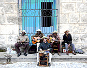 Cuba Mixed Media - Cuban Band  by Charles Shoup