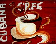 Espresso Paintings - Cubana Cafe by Jayne Kerr