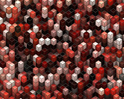 Visual Language Digital Art - Cubed Again by Jack Zulli