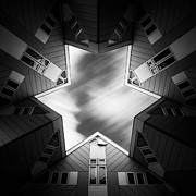 Below Framed Prints - Cubic Star Framed Print by David Bowman