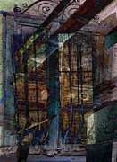 Sarah Vernon Metal Prints - Cubist Shutters Doors and Windows Metal Print by Sarah Vernon