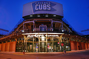 Friendly Confines Prints - Cubs Bleachers Entrance Print by Jim Druzik
