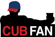 Chicago Cubs Digital Art - Cubs Fan Silhouette by The Heckler