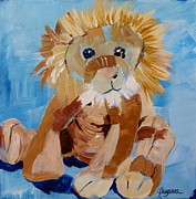 Suzanne Willis Metal Prints - Cuddly Lion Metal Print by Suzanne Willis