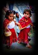 Christmas Eve Framed Prints - Cuenca Kids 241 Framed Print by Al Bourassa