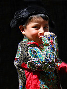 Innocent Smile Prints - Cuenca Kids 243 Print by Al Bourassa