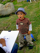 Caricature Artist Art - Cuenca Kids 265 by Al Bourassa