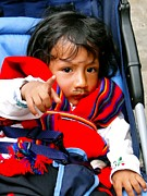 Poncho Photos - Cuenca Kids 306 by Al Bourassa