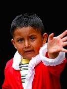 Christmas Eve Art - Cuenca Kids 308 by Al Bourassa