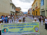 Marching Band Metal Prints - Cuenca Kids 326 Metal Print by Al Bourassa