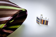 Patterned Dress Prints - Cuff Links Print by Tim Hester