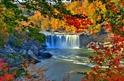 Mel Steinhauer Framed Prints - Cumberland Falls In Autumn 2 Framed Print by Mel Steinhauer