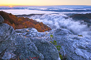 Pinnacle Overlook Prints - Cumberland Gap Sunrise Print by Christian Heeb