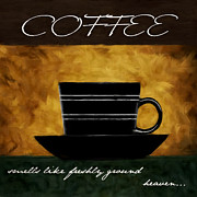 Downtown Cafe Posters - Cup O Coffee Poster by Lourry Legarde