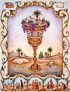 Jerusalem Paintings - Cup of Blessings - Gefen by Michoel Muchnik