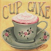 Folk Art Paintings - Cup of Cake by Catherine Holman