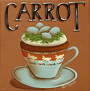Catherine Framed Prints - Cup of Carrot Cake Framed Print by Catherine Holman